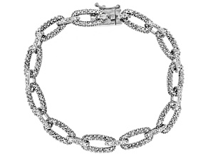 Diamond Rhodium over Brass Bracelet 1.00ctw