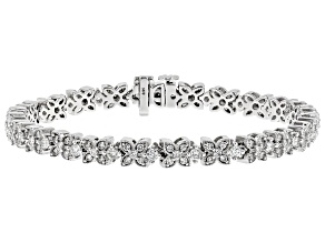 White Diamond 14k White Gold Bracelet 3.00ctw