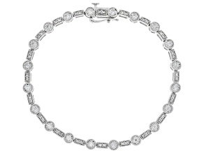 White Diamond 10K White Gold Bracelet 1.00ctw