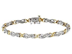 White Diamond 10K Two-Tone Gold Bracelet 1.00ctw