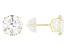 White Cubic Zirconia 14K Yellow Gold Stud Earrings 6.50ctw