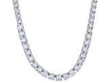 White Cubic Zirconia Rhodium Over Silver Necklace, Bracelet, And Earrings 76.69ctw
