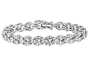 White Cubic Zirconia Rhodium Over Sterling Silver Tennis Bracelet 26.13ctw