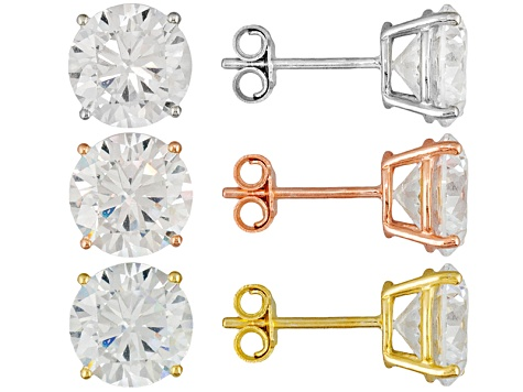 Bella Luce ® 18.00ctw Rhodium Plated, 14k Yellow And Rose Gold Over Sterling Silver Earrings Set