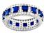 Bella Luce ® 6.12ctw Sapphire Simulant & White Diamond Simulant Rhodium Over Silver Band