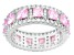 Pink And White Cubic Zirconia Sterling Silver Ring 6.04ctw