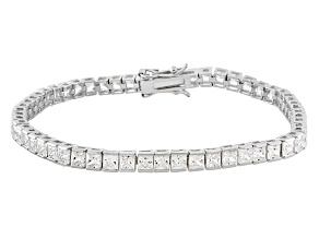 White Cubic Zirconia Sterling Silver Bracelet 13.50ctw