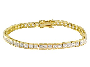 White Cubic Zirconia 18K Yellow Gold Over Silver Bracelet 13.50ctw