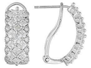 Cubic Zirconia Silver Earrings 1.20ctw