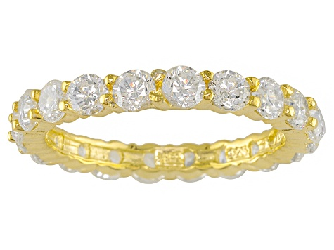 Cubic Zirconia 18k Rose And Yellow Gold And Rhodium Over Silver Bands 10.25ctw