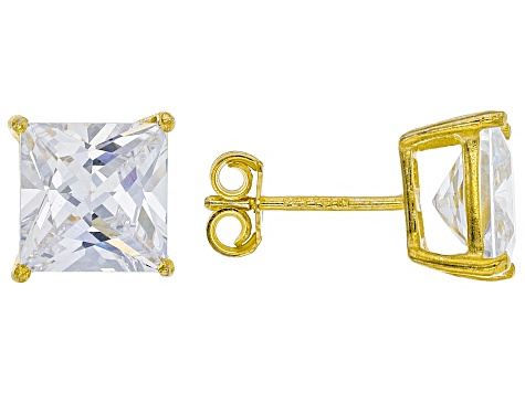 Cubic Zirconia 14k Yellow Gold Over Silver Earrings 30.00ctw