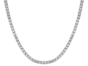 Cubic Zirconia Sterling Silver Tennis Necklace 23.76ctw