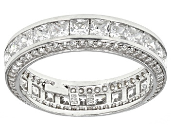 Picture of Cubic Zirconia Rhodium Over Sterling Silver Band 5.00ctw