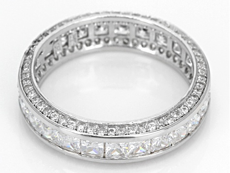 Cubic Zirconia Rhodium Over Sterling Silver Band 5.00ctw