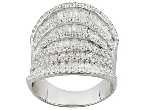 Cubic Zirconia Silver Ring 7.00ctw