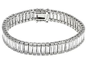 Cubic Zirconia Sterling Silver Bracelet 47ctw