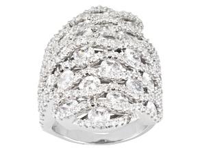 Cuvic Zirconia Silver Ring 10.56ctw