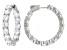Cubic Zirconia Rhodium Over Sterling Silver Hoop Earrings 23.68ctw