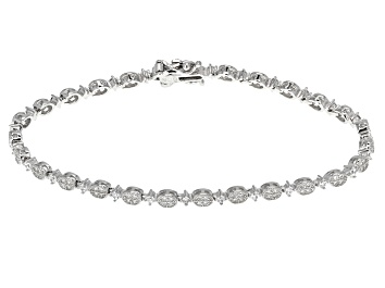 Picture of White Cubic Zirconia Rhodium Over Sterling Silver Bracelet 1.50ctw