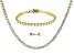 White Cubic Zirconia 18k Yellow Gold Over Sterling Necklace, Bracelet And Earrings Set 64.35ctw