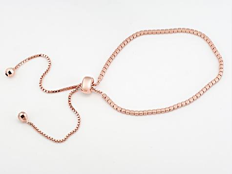 Cubic Zirconia 18k Rose Gold Over Silver Bracelet 2 25ctw