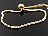 Cubic Zirconia 18k Yellow Gold Over Silver Bracelets 2.25ctw