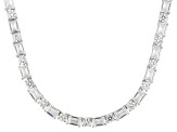 Cubic Zirconia Sterling Silver Necklace 59.00ctw