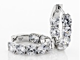 Cubic Zirconia Rhodium Over Sterling Silver Earrings 12.56ctw