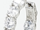 Cubic Zirconia Rhodium Over Sterling Silver Earrings 12.80ctw