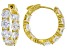 White Cubic Zirconia 18k Yellow Gold Over Sterling Silver Earrings 12.80ctw