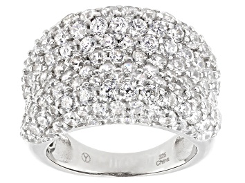 Picture of White Cubic Zirconia Rhodium Over Sterling Silver Ring 10.35ctw