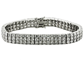 White Cubic Zirconia Sterling Silver Bracelet 16.50ctw