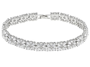 Cubic Zirconia Rhodium Over Sterling Silver Bracelet 27.50ctw