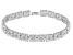 Cubic Zirconia Rhodium Over Sterling Silver Bracelet 27.50ctw