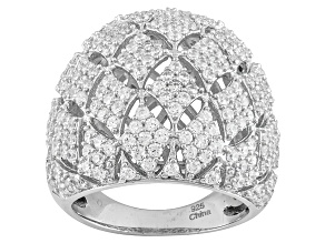 Cubic Zirconia Sterling Silver Ring 4.00ctw