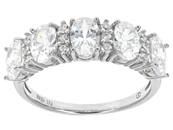 Picture of Cubic Zirconia Rhodium Over Sterling Silver Ring 4.65ctw