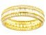 White Cubic Zirconia 18k Yellow Gold Over Sterling Silver Band Ring 3.25ctw