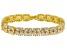 Cubic Zirconia 18k Yellow Gold Over Silver Bracelet 27.50ctw