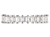 Cubic Zirconia Rhodium Over Sterling Silver Band 2.70ctw