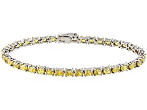 Yellow Cubic Zirconia Silver Bracelet 9.60ctw