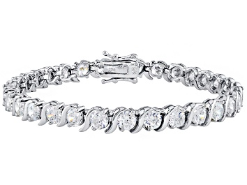 Picture of Cubic Zirconia Rhodium Over Sterling Silver Bracelet 14.75ctw