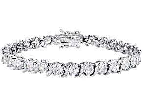 Cubic Zirconia Silver Bracelet 14.75ctw
