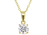 Cubic Zirconia 14 Yellow Gold Over Silver Bracelet, Earrings And Pendant With Chain Set 44.80ctw
