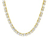 Cubic Zirconia 18K Yellow Gold Over Silver Necklace 59.00ctw