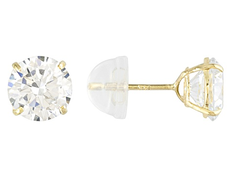 260385084 Cubic Zirconia 14k Yellow Gold Stud Earrings 2.86ctw - DOCK96Y | JTV.com