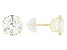 Cubic Zirconia 14k Yellow Gold Stud Earrings 6.50ctw