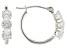 Cubic Zirconia 10k White Gold Hoop Earrings 2.25ctw