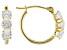 Cubic Zirconia 10k Yellow Gold Hoop Earrings 2.25ctw