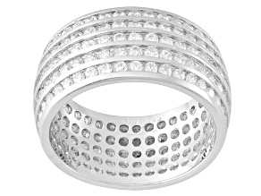 Cubic Zirconia Silver Band 4.30ctw
