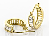 Cubic Zirconia 18k Yellow Gold Over Sterling Silver Earrings 4.80ctw